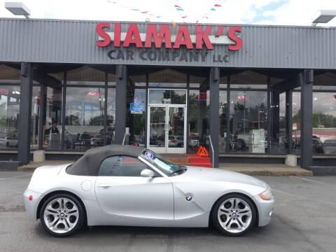 2003 BMW Z4 for sale at Siamak's Car Company llc in Salem OR