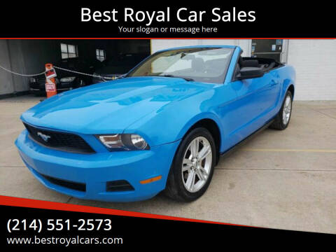 2010 Ford Mustang for sale at Best Royal Car Sales in Dallas TX