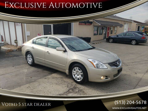 2010 Nissan Altima for sale at Exclusive Automotive in West Chester OH