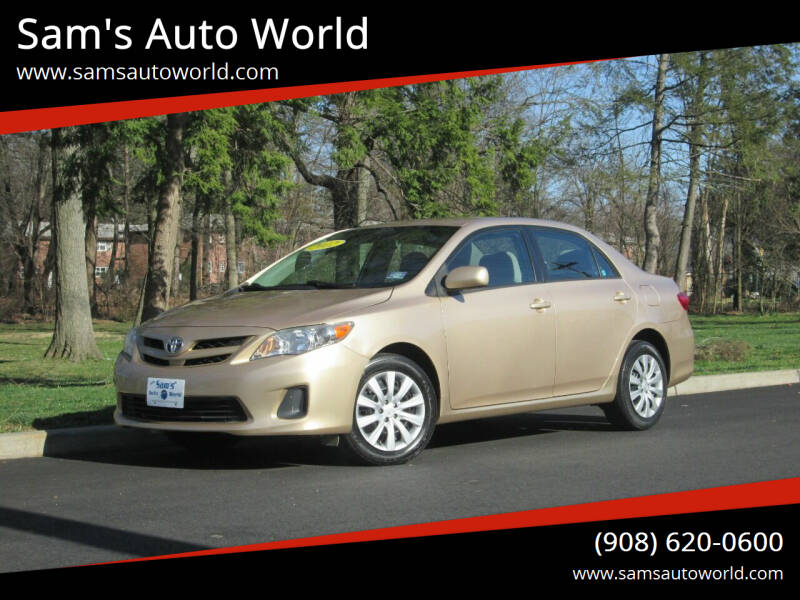 2012 Toyota Corolla for sale at Sam's Auto World in Roselle NJ