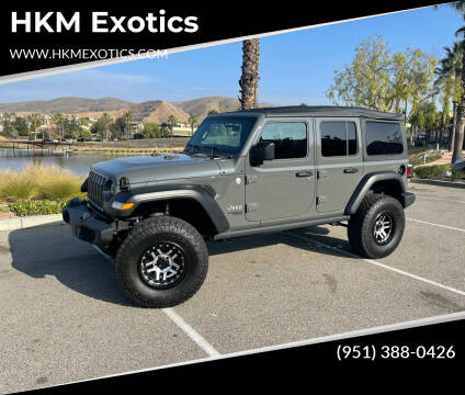 2020 Jeep Wrangler Unlimited for sale at HKM Exotics in Corona CA