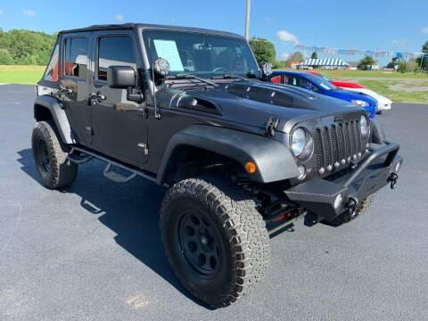 2014 Jeep Wrangler Unlimited for sale at Hillside Motors in Jamestown KY