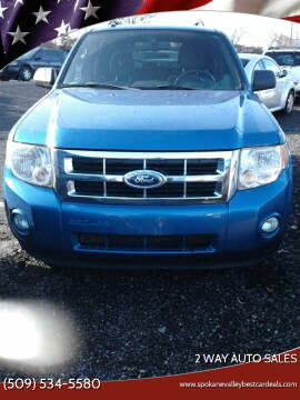 2011 Ford Escape for sale at 2 Way Auto Sales in Spokane Valley WA