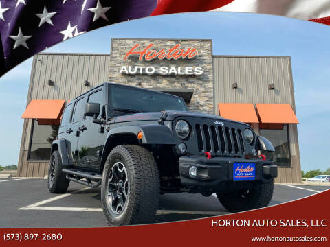 2014 Jeep Wrangler Unlimited for sale at HORTON AUTO SALES, LLC in Linn MO