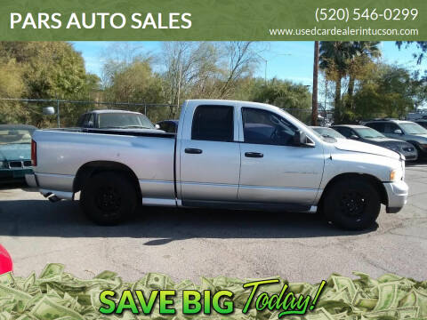 2003 Dodge Ram Pickup 1500 for sale at PARS AUTO SALES in Tucson AZ