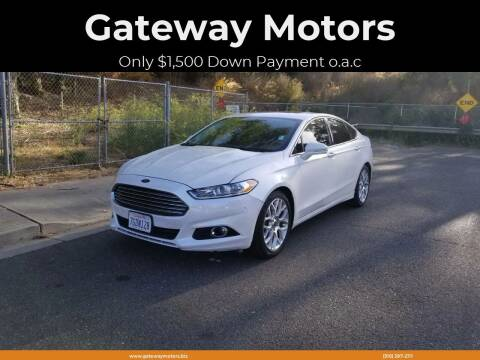 2014 Ford Fusion for sale at Gateway Motors in Hayward CA