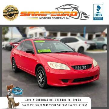 2005 Honda Civic for sale at SAMPEDRO MOTORS COMPANY INC in Orlando FL