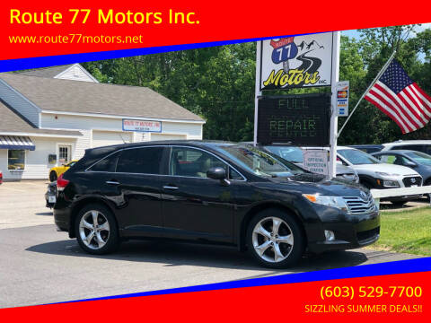 2010 Toyota Venza for sale at Route 77 Motors Inc. in Weare NH