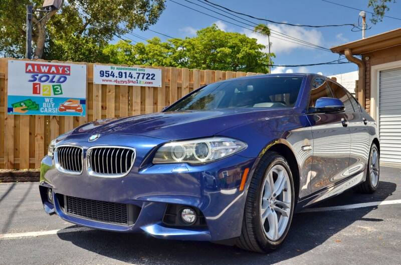 2015 BMW 5 Series for sale at ALWAYSSOLD123 INC in Fort Lauderdale FL