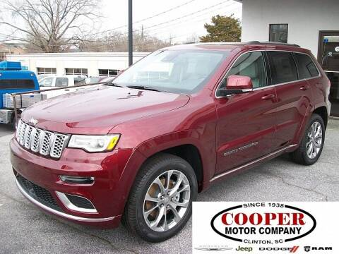 2021 Jeep Grand Cherokee for sale at Cooper Motor Company in Clinton SC