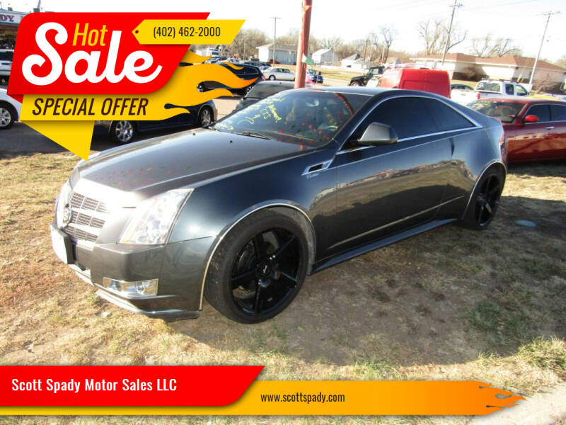 2011 Cadillac CTS for sale at Scott Spady Motor Sales LLC in Hastings NE