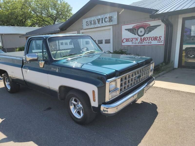 1980 Chevrolet C/K 10 Series for sale at CRUZ'N MOTORS - Classics in Spirit Lake IA