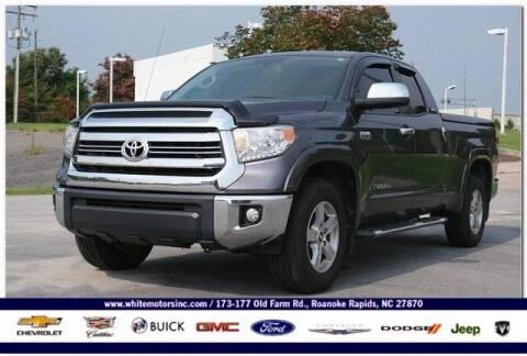 2016 Toyota Tundra for sale at WHITE MOTORS INC in Roanoke Rapids NC