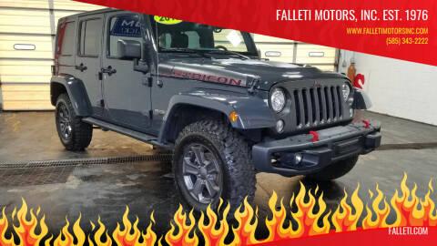 2018 Jeep Wrangler Unlimited for sale at Falleti Motors, Inc.  est. 1976 in Batavia NY