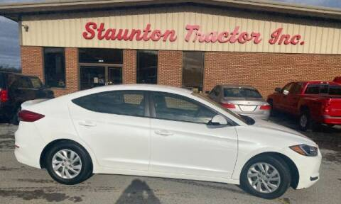 2018 Hyundai Elantra for sale at STAUNTON TRACTOR INC in Staunton VA