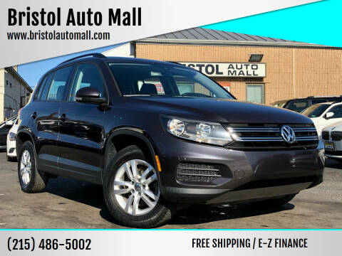 2016 Volkswagen Tiguan for sale at Bristol Auto Mall in Levittown PA