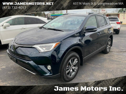 2018 Toyota RAV4 for sale at James Motors Inc. in East Longmeadow MA