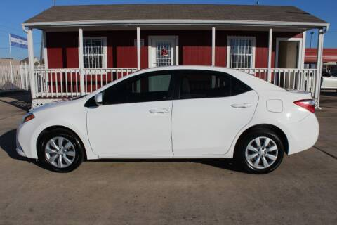 2016 Toyota Corolla for sale at AMT AUTO SALES LLC in Houston TX