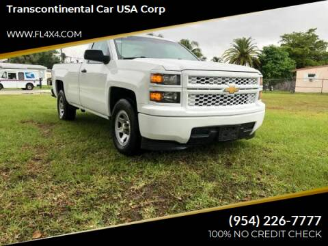 2014 Chevrolet Silverado 1500 for sale at Transcontinental Car USA Corp in Fort Lauderdale FL