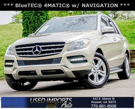 2012 Mercedes-Benz M-Class for sale at Used Imports Auto in Roswell GA