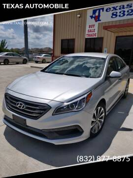 2015 Hyundai Sonata for sale at TEXAS AUTOMOBILE in Houston TX
