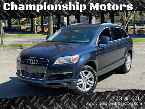 2008 Audi Q7 for sale at Championship Motors in Redmond WA