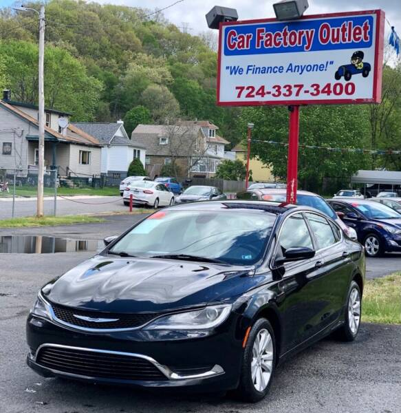 2016 Chrysler 200 for sale at Car Factory Outlet in Lower Burrell PA