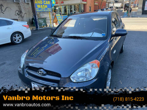 2011 Hyundai Accent for sale at Vanbro Motors Inc in Staten Island NY