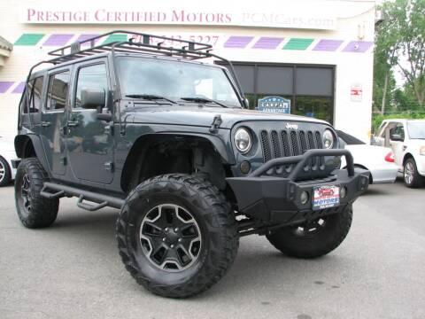 2016 Jeep Wrangler Unlimited for sale at Prestige Certified Motors in Falls Church VA