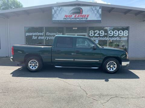 2005 Chevrolet Silverado 1500 for sale at NO LIMIT MOTORSPORTS in Belmont NC