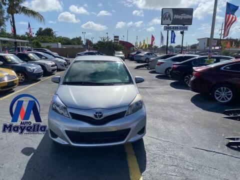 2013 Toyota Yaris for sale at Auto Mayella in Miami FL