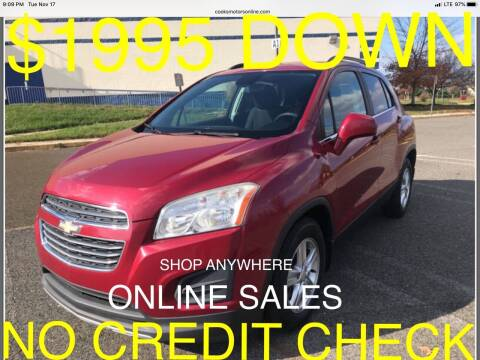 2015 Chevrolet Trax for sale at Cooks Motors in Westampton NJ
