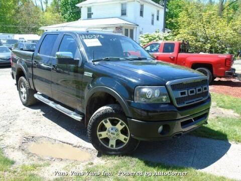 2008 Ford F-150 for sale at Vans Vans Vans INC in Blauvelt NY