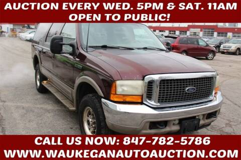 2001 Ford Excursion for sale at Waukegan Auto Auction in Waukegan IL