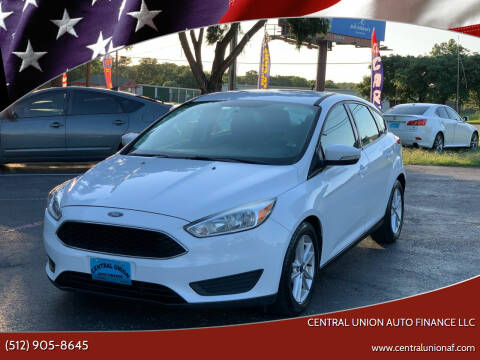 2015 Ford Focus for sale at Central Union Auto Finance LLC in Austin TX