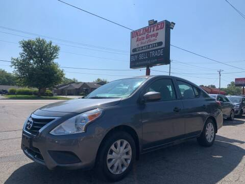 2019 Nissan Versa for sale at Unlimited Auto Group in West Chester OH