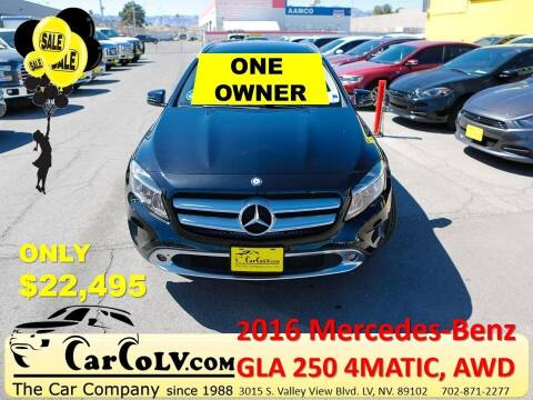 2016 Mercedes-Benz GLA for sale at The Car Company in Las Vegas NV