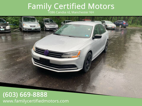 2015 Volkswagen Jetta for sale at Family Certified Motors in Manchester NH
