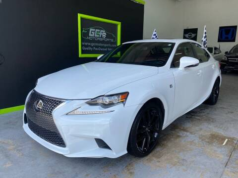 2015 Lexus IS 250 for sale at GCR MOTORSPORTS in Hollywood FL