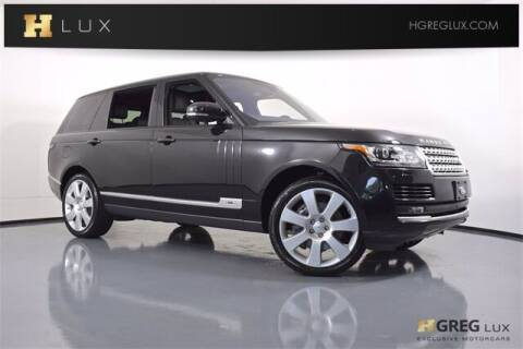 2016 Land Rover Range Rover for sale at HGREG LUX EXCLUSIVE MOTORCARS in Pompano Beach FL