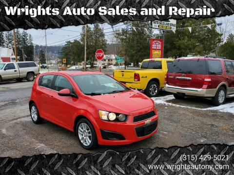 2016 Chevrolet Sonic for sale at Wrights Auto Sales and Repair in Dolgeville NY