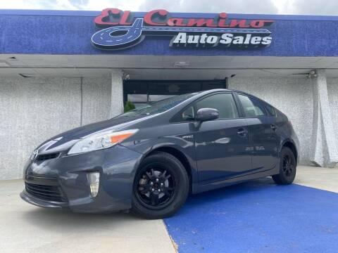 2014 Toyota Prius for sale at El Camino Auto Sales in Gainesville GA