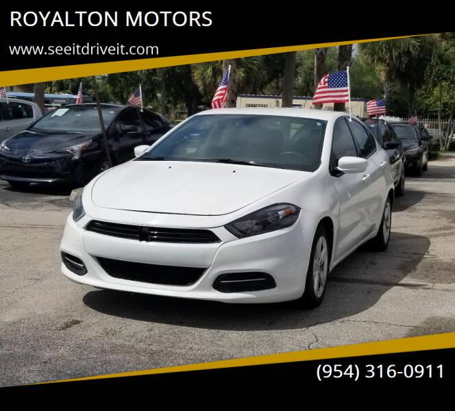 2016 Dodge Dart for sale at ROYALTON MOTORS in Plantation FL