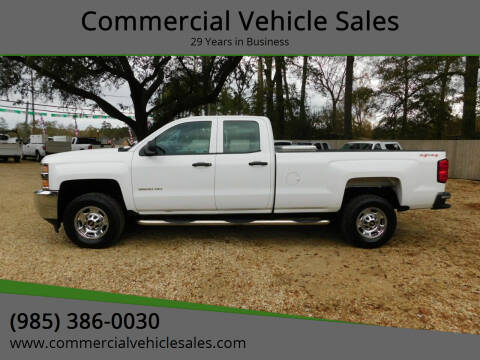 2015 Chevrolet Silverado 2500HD for sale at Commercial Vehicle Sales in Ponchatoula LA