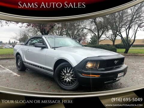 2005 Ford Mustang for sale at Sams Auto Sales in North Highlands CA