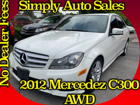 2012 Mercedes-Benz C-Class for sale at Simply Auto Sales in Palm Beach Gardens FL