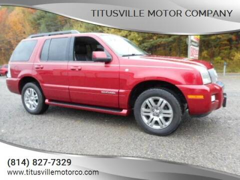 2007 Mercury Mountaineer for sale at Titusville Motor Company in Titusville PA