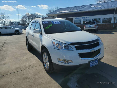 2012 Chevrolet Traverse for sale at Liberty Car Company in Waterloo IA