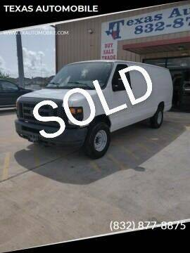 2009 Ford E-Series Cargo for sale at TEXAS AUTOMOBILE in Houston TX