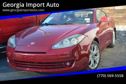 2008 Hyundai Tiburon for sale at Georgia Import Auto in Alpharetta GA